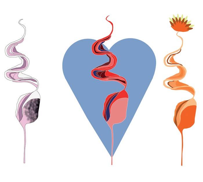 illustration système digestif couleurs pastels