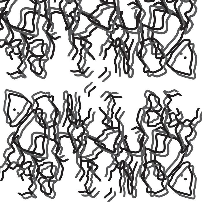 papier peint typographie hallucinations visuelles