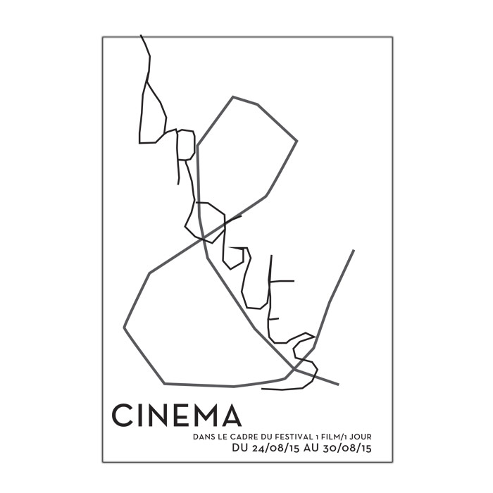 affiche typographique pour un festival sur la drogue et le cinéma-typographies en nnuances de gris sur un fond