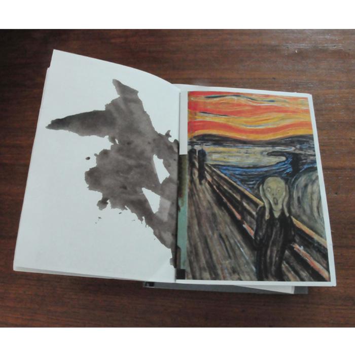 édition corpus de références-teste de rorschach page de gauche-Le cri d'Edward Munch page de droite