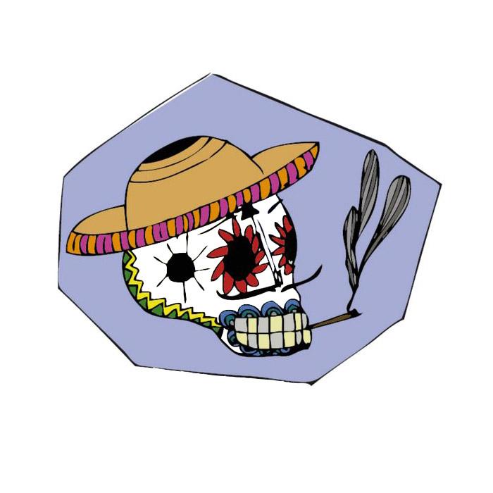 illustration colorée-crâne mexicain