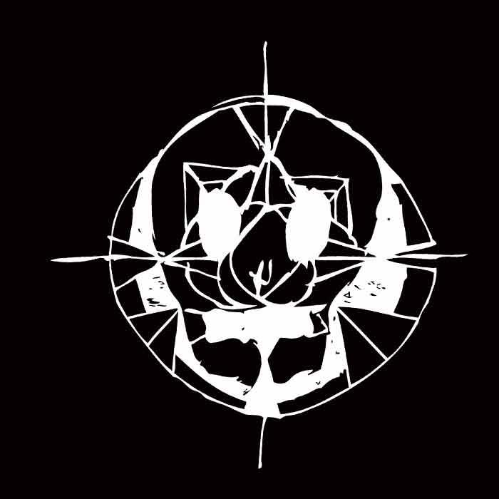 illustration noir et blanc crâne et mandala