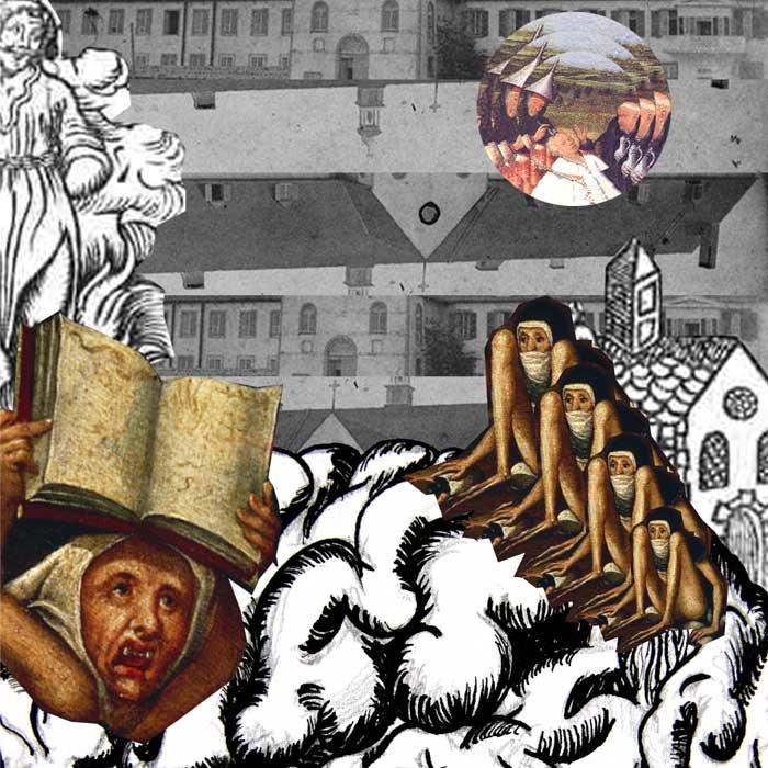 micro edition carte postale-Les possédées de Loudun