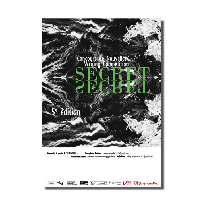 affiche effet symétrie noir et blanc pour un festival de nouvelles au Havre