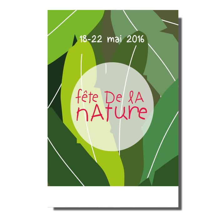 Affiche pour le festival de la fête de la nature - feuilles de bananiers vertes